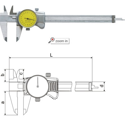 Dial Calipers(Mono Block Type A)