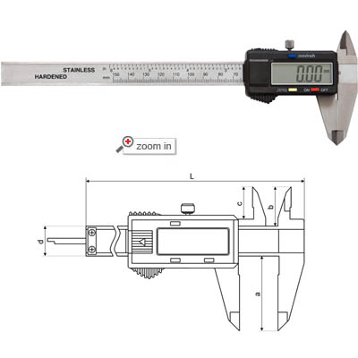 Left Handed Digital Calipers