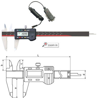 Four-key Digital Calipers With Data Cable