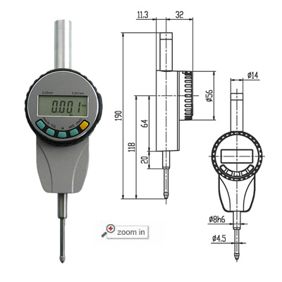 High Precision Digital Indicators(Range:0-25mm)