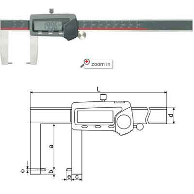 Outside Groove Digital Calipers With Round Points